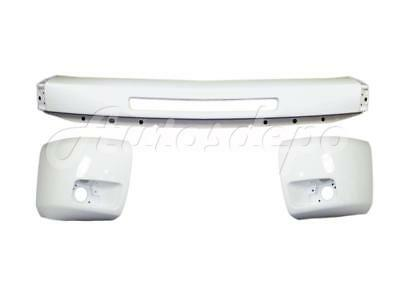 Painted White FRONT BUMPER END WITH AIR FOG HOLE For 2007-2013 SILVERADO 1500