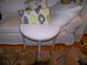 Two Antique Demi Lune Tables Rejuvenated ( price for both ) London Ontario image 1