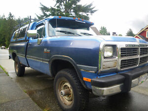 1991 Dodge  Ram 2500 4x4 LE Diesel Pickup Truck North Shore Greater Vancouver Area image 2