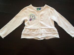 Girl White Cardigan - Size 3T