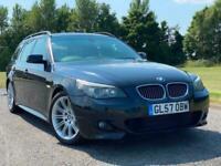 2007 57 BMW 525 3.0i M SPORT BLACK AUTO STEPTRONIC 5 DOOR ESTATE TOURING