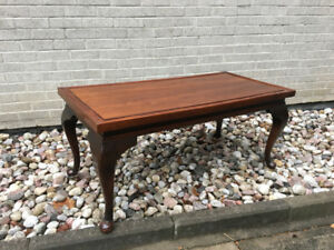 Antique coffee table. Fruit wood. Refinished. German.