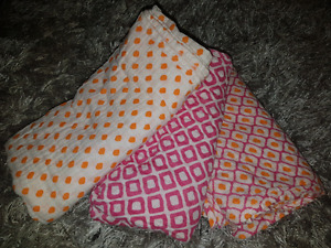 Large muslin baby blankets, set of 3