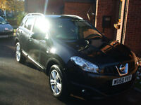 NISSAN QASHQAI 2.0 dCi DIESEL 2WD N-TEC WITH PANORAMIC ROOF SAT NAV PEARL BLACK