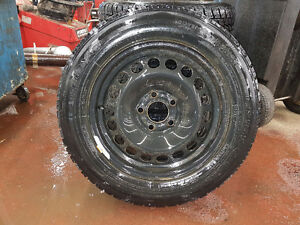 "15"" Steel Wheels with Winter Tires195/60R15 Only Used One Season"
