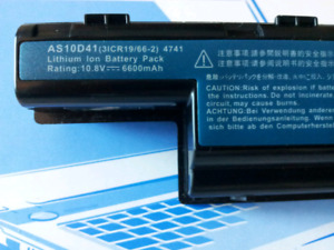 Acer laptop extended Li-ion battery AS10D41