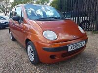 Daewoo Matiz 0.8 SE, 32k From New, Mot'd, Goes Well, Part Ex Poss