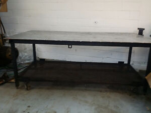 worktable portable 4 x 8 with S/S top
