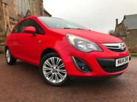 *12 MTHS WARRANTY*2014(14)VAUXHALL CORSA 1.3 CDTI SE 3DR CRUISE LEATHER*53K