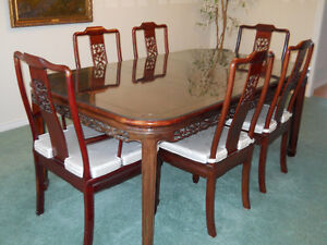 Chinese Rosewood Dining Room Suite
