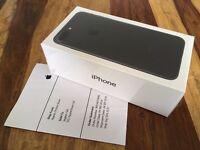 NEW SEALED IPHONE 7 PLUS 32GB BLACK with RECEIPT - SIM FREE UNLOCKED - 1YR APPLECARE