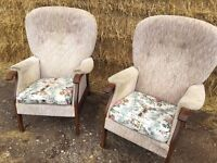 Pair of Johnson Holland Armchairs
