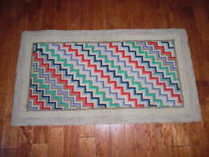 OLD TRADITIONAL HAND-HOOKED RUGS