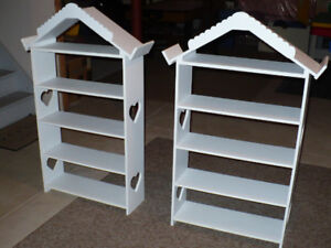 Two White Child Book Shelves $35 each or $60 for both