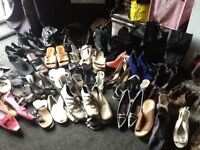 Job lot/car boot/bundles shoes various sizes/colours qty 50pair
