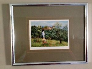 SIGNED PRINT/PICTURE BY ELIZABETH FISHER