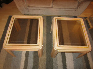 Glass top end tables Kitchener / Waterloo Kitchener Area image 1
