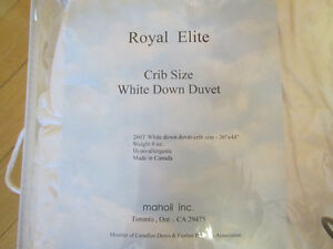 Down Duvet crib size