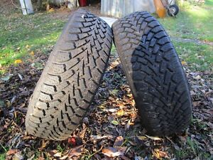 2--- 225/16 GOOD YEAR NORDIC WINTER SNOW TIRES