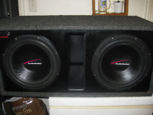 sub box and subs and amp