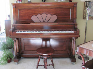 PRICED TO SELL LATE 1800's ANTIQUE TRYBER PIANO Prince George British Columbia image 6