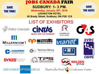 Free: Sudbury Job Fair 30th January 2019