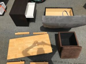 5 Items (Coffe Table/Side Table/Cooler/Ottoman/Cube