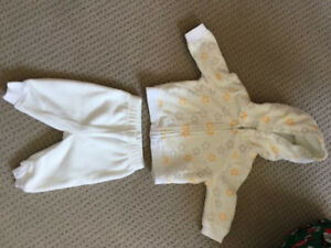 Baby 0-3 month fleece clothing