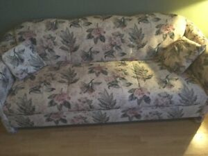 Cream and floral couch