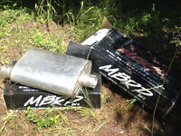 "MBRP mufflers for trucks and cars (gas only) 2.5"" and 3"""