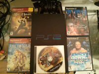 PS2 Console with 5 Games