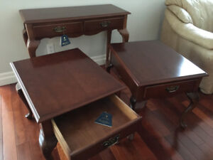 Solid Wood End Tables and Hall Table