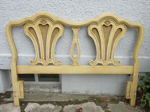 Charming Antique Headboard by Drexel - Original Paint!