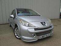 2007 PEUGEOT 207 1.6 THP 150 GT RARE TURBO LEATHER GLASS ROOF 50,000 MILES