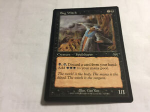 1999 BOG WITCH #118 Magic The Gathering Mercadian Masques UNPLYD