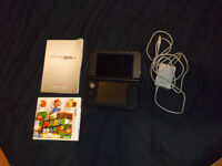 3DS XL - Black with Game, Charger and Operators Manual.
