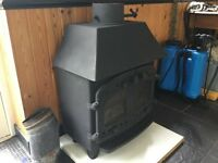 Villager 'B' wood burning stove. 8kW output with integral back boiler.