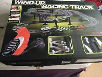 Wind up racing track