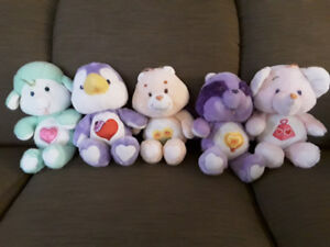VINTAGE CARE BEARS AND FRIENDS AND POLAR PUFF BEAR