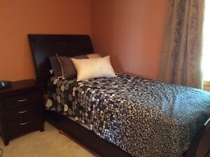 Youth sleigh bed and night stand