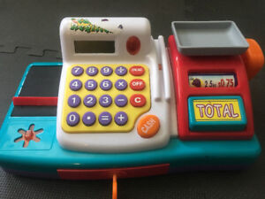 Kids toys - cash register, musical teapot, play microwave