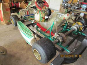 karting go kart tony kart rolling chassis