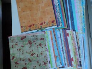 Lot de 50 feuilles de papier scrapbooking 12 X 12 pouces