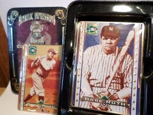 Set Of 5 Metal Cards Babe Ruth (VIEW OTHER ADS)