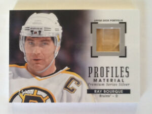 Hockey card Ray Bourque profiles material silver series