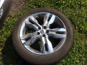 """Ford Edge 20"""" tires and rims"""