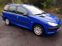 2004 Peugeot 206 estate 85k £695