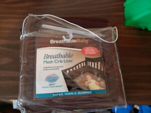 Brown  Breathable Crib Liner • Hardly Used • $10