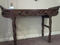 Antique Entrance / Console Table Hand Carved
