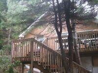 Maison à vendre Laurentides Ste-agathe avec lac-quai accès privé